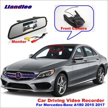 Liandlee Car DVR Front Camera Driving Video Recorder Mirror Monitor For Mercedes Benz A180 2015 2017 HD AUTO Dash Cam Antiradar liandlee for mercedes benz glk mb x204 2008 2016 car black box wifi dvr dash camera driving video recorder