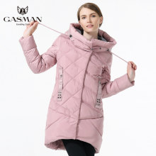 GASMAN Brand Winter Jacket Women 2018 Medium Length Thick Down Parka Fashion Hooded Overcoat For Women Clothes Winter Pink Color(China)