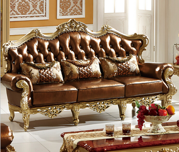 Simple design leather Sofa graceful leather sofa for ...