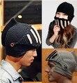 2016 Roman Knight Helmet hats for women men cotton acrylic Skull Knit Crochet Gladiator Mask Windproof Snowboard Beanies hat