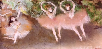High quality Oil painting Canvas Reproductions Ballet Scene (1879) By Edgar Degas hand painted