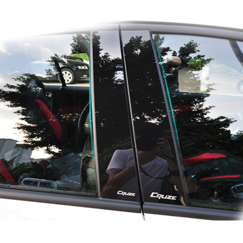 For Chevrolet Cruze sedan mirror reflection panel BC column rear Triangle decorative sticker film