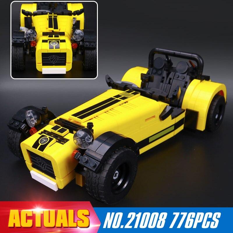 ФОТО NEW LEPIN 21008 technic series 771pcs The Caterham Classic 620R Racing Car Set Model Building blocks Bricks Compatible 21307 Toy