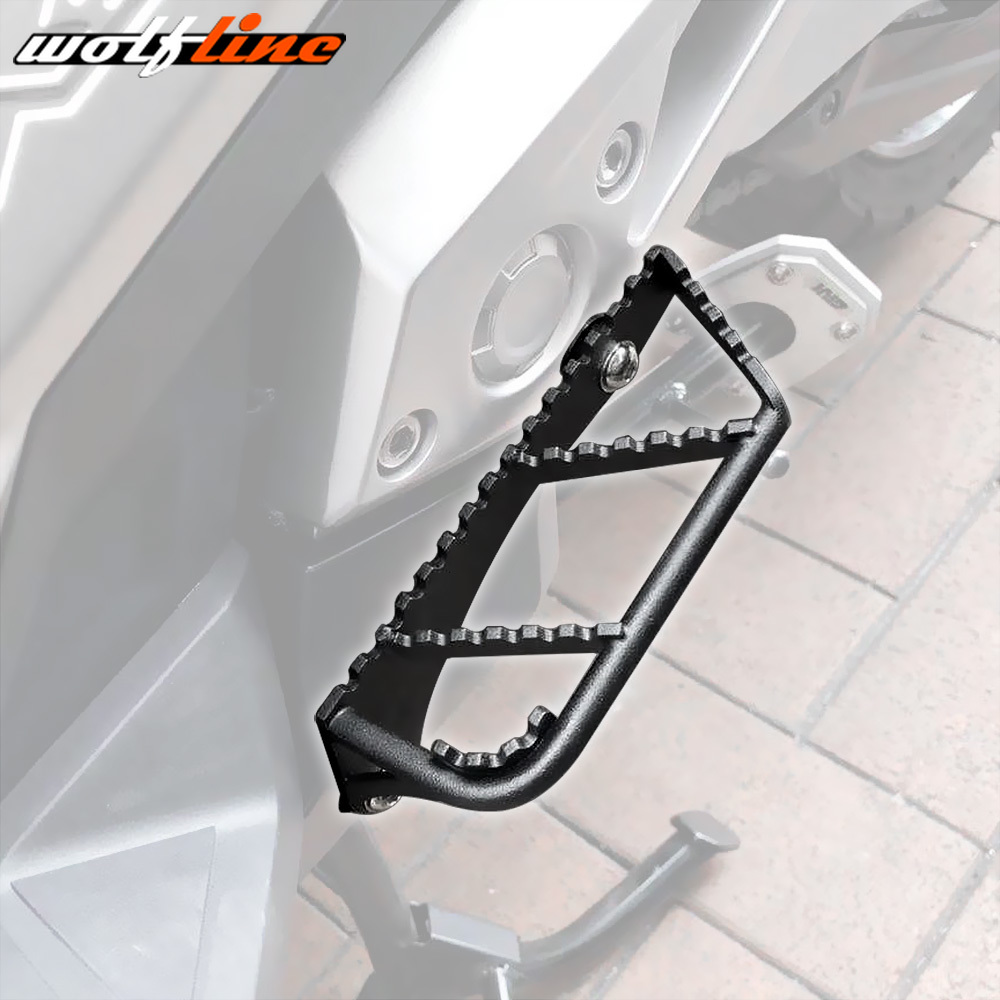 WOLFLINE Motorcycle Accessories Pair Additional Footpeg Pedals Footrest for HONDA X ADV 750 2017 2018 Foot Pegs Rest XADV X ADV