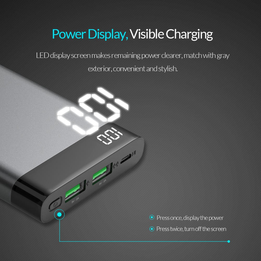 ORICO 10000mAh Power Bank Dual USB 5V2A 4