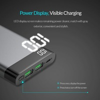 ORICO 10000mAh Power Bank Dual USB 5V2A with Display Screen Poverbank Portable External Battery Pack For Xiaomi Mobile Phone 3