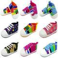 Meninos Da Menina da criança Do Bebê Recém-nascido Berço Prewalker Sapatos de Sola Macia Esportes Anti-slip Tênis Infantil Sapatos