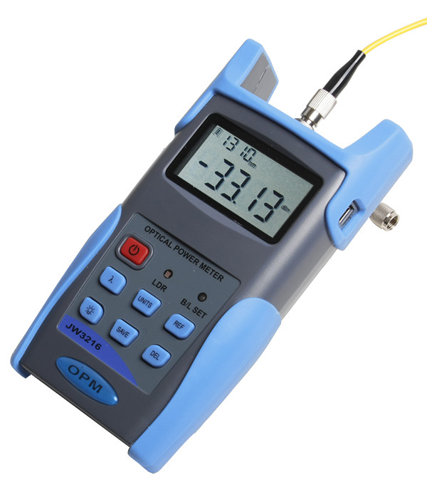 Handheld Optical Power Meter -70 to +6 dBm, FC/SC/ST Connectors, can Save & Download Testing Records, Support SM & MMHandheld Optical Power Meter -70 to +6 dBm, FC/SC/ST Connectors, can Save & Download Testing Records, Support SM & MM