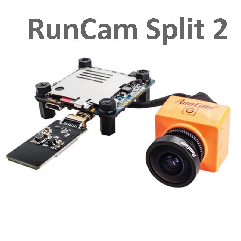 цена на RunCam Split 2 mini FPV WiFi Camera 2 130 degree Megapixels 1080P/60fps HD recording plus WDR NTSC / PAL for FPV RC Quadcopter
