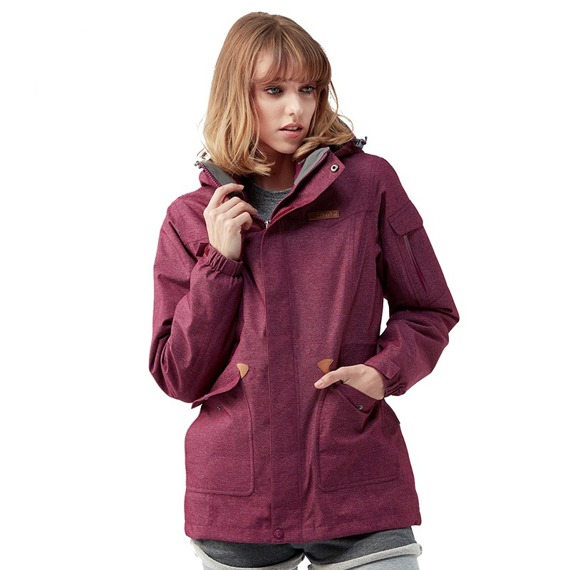 2017 Tectop Outdoor Women Winter 3 in 1 Hiking Jackets Female Thermal Polar Fleece Inner Two-piece Coats For Skiing Hiking S-3XL