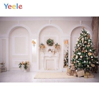 Рождественский фон, белая стена, домашний интерьер, дерево, детский портрет, Виниловый фон для фотосъемки, фотостудия, Фотофон