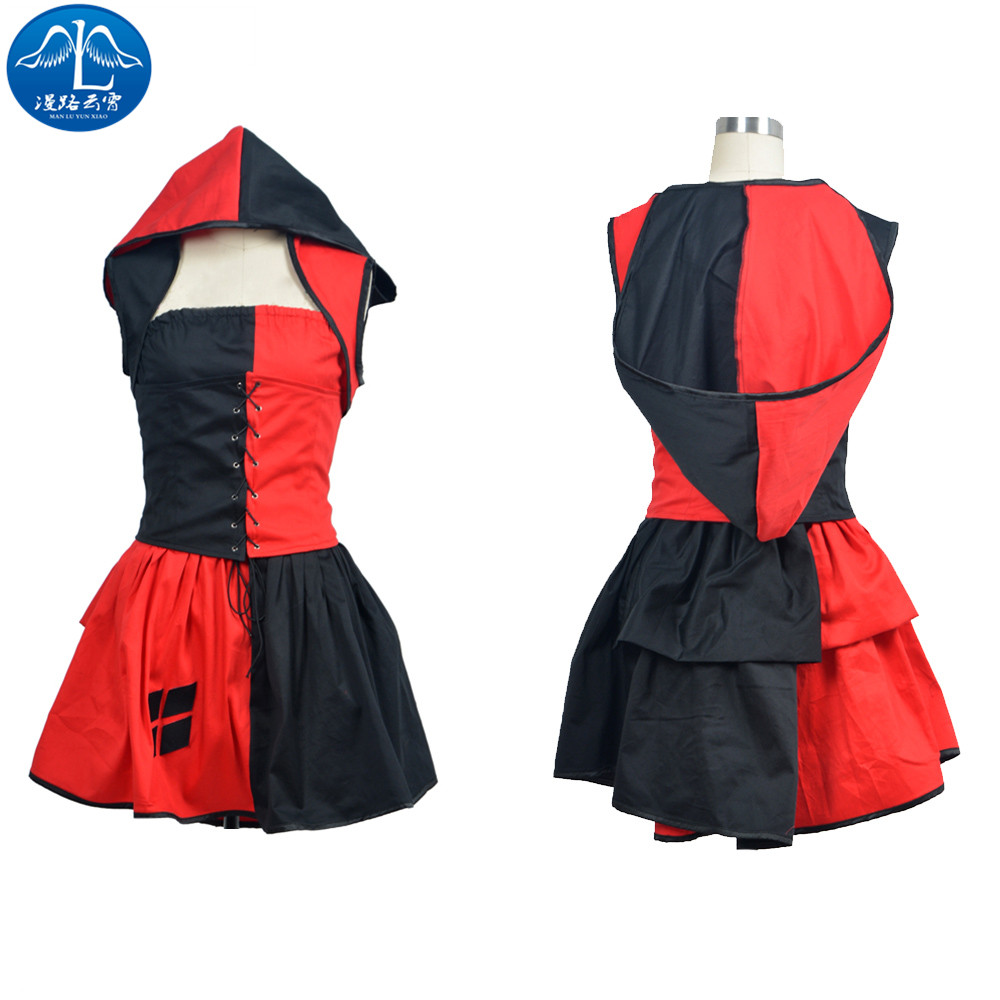 ManLuYunXiao Harley Quinn Costume Women Halloween Harley Quinn Cosplay Costume For Women Dress Custom Made Factory Price