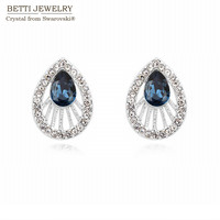 2015 Classic Water Drop Rhodium Plated Earrings For Women With Crystals From Swarovski For Valentine S