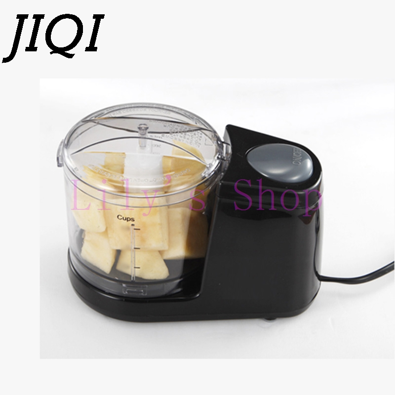 JIQI Household MINI meat grinding machine multifuntion electric meat mincer vegetable fruit blender mixer baby food Processor EU 1pcs refires vintage motorcycle fuel tank lock fuel tank cover motorcycle fuel tank cap for cg125
