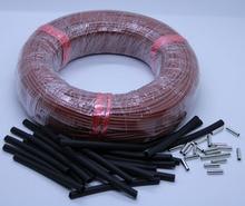 20 м 12 к 33 Ом инфракрасный кабель подпольного отопления системы 3 мм кремния углерода волокно Электрический провода теплый