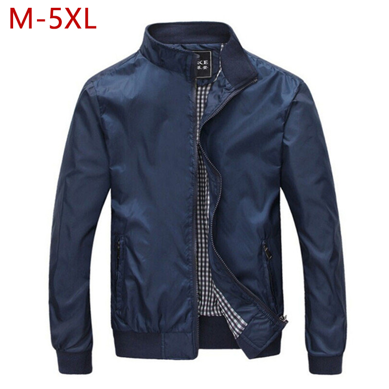 M-5XL Spring Summer Jacket Men Casual Thin Thick Windbreaker College Bomber Black Windcheater Homme Varsity Jacket Big Size YJ19
