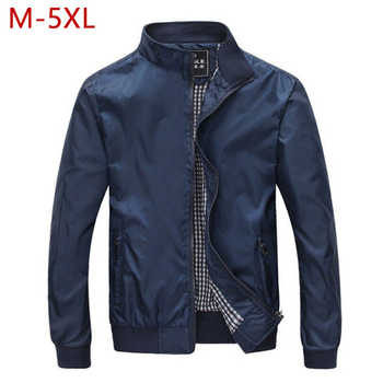 M-5XL Spring Summer Jacket Men Casual Thin Thick Windbreaker College Bomber Black Windcheater Homme Varsity Jacket Big Size YJ19 - DISCOUNT ITEM  50% OFF All Category