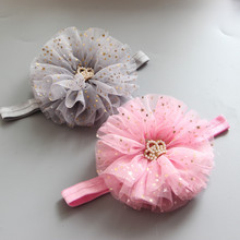 Girls chiffon Crown Headband hair clip kids Hair Band Accessories Princess Barrette hairpin Headwear headwrap FD10