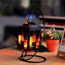 New 2018 Fashion Retro Iron Moroccan Style Christmas Candlestick Lamp Candleholder Light Drop Shipping(China)