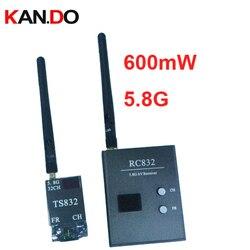 0.6W 5.8G FPV transceiver model air plane transmitter receiver 32ch 5.8G Wireless drone transmitter receiver cctv camera
