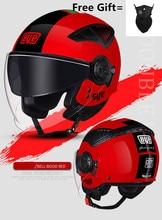 цена на Pink women New Motorcycle Helmet Safety Helmet Racing Motocross Helmet double lens men helmet DOT ECE Approved