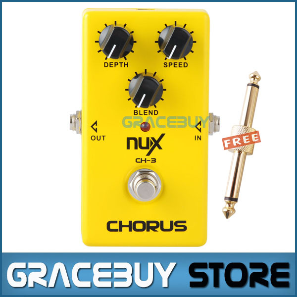 NUX CH3 Vintage Chorus Guitar Effect Pedal Low Noise BBD In Delay Circuit True Bypass Hardware Dwitching LED Indicator Shows mooer ensemble queen bass chorus effect pedal mini guitar effects true bypass with free connector and footswitch topper