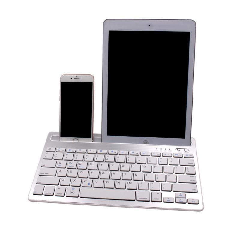 Universal Multi-function Phone Holder Keyboard Smartphone Rechargeable Blutooth Wireless Multi-Device Mini Keyboard