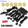 beatiful LED monitor Parking System Reverse Sound Alert Car Parking sensor 6 sensors Buzzer Backup Radar 9 Colors available