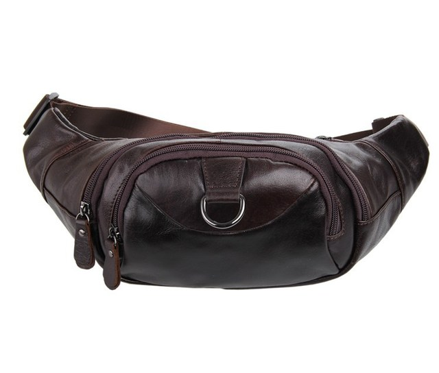 Nesitu High Quality Vintage First Layer Genuine Leather Cowhide Women Men Real Leather Waist Bags #M7211