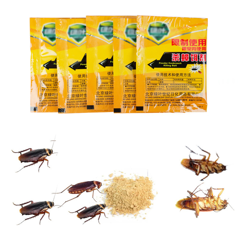 5 Pcs Kill Roaches Medicine Cockroach Killer Pest Control Cockroach Powder Insect Repellent Poison