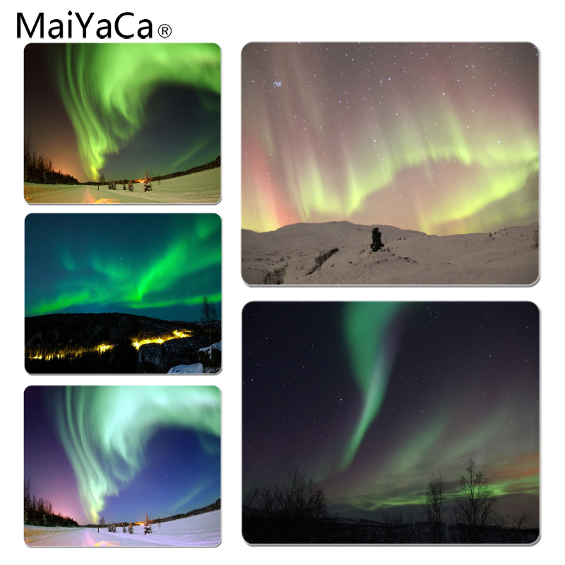 MaiYaCa Mysterious Northern Lights Large Mouse pad PC Computer mat Size for 18x22x0.2cm Gaming Mousepads
