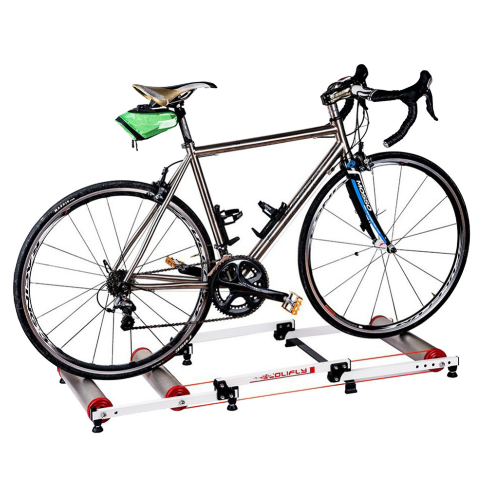 Bike Trainer tool Station Road Bicycle Exercise Fitness Station MTB Bike Trainer Roller Training Tool 3 Stage Folding road bicycle exercise fitness station indoor training station mtb bike trainer folding roller training tool 3 stage folding