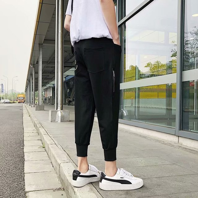 Loose Men's Pants Solid Cool Outdoor Streetwear Fashion Pants New Male Summer Soft Pants 15