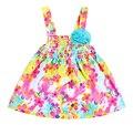 Nuevo estilo del verano 2015 flor del bebé del vestido Baby Girl Clothes ropa recién nacido niña bebé vestido vestidos