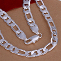 N196 2017 MEN's 925 sterling silver necklace 925 Silver Jewelry 12mm 20INCH men's chains necklaces for men fine jewerly