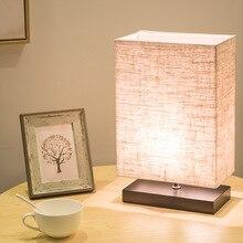 Modern Linen Table Lamp Bedroom Bedside Table Light Rectangular Living Room Lighting Restaurant Cafe Decorative Luminaria цены