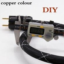 DIY медный цвет FP3TS20 основной родий/с позолотой EU/us Plug HIFI кабель питания