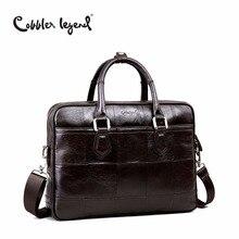 Cobbler Legend брендовая дизайнерская мужская сумка-портфель из натуральной кожи для мужчин сумки через плечо для 15 »ноутбук деловая сумка 0907159-1