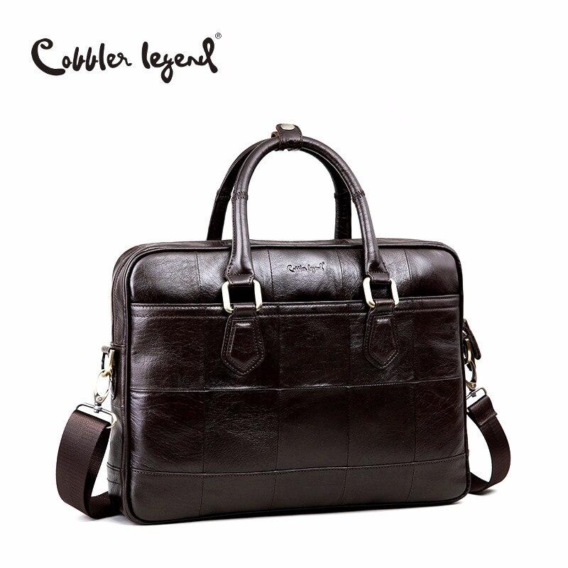 Cobbler Legend Brand Designer Men's Real Leather Briefcase Bag For Male Crossbod