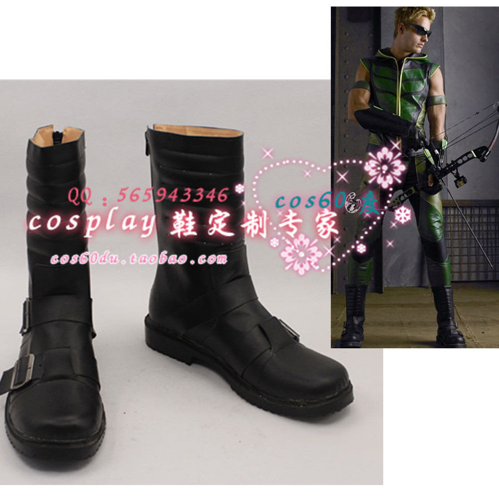 Green Arrow Oliver Queen Cosplay Shoes S008-in Shoes from ...