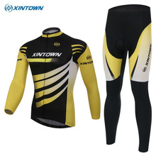 XINTOWN Mens Clothing Set Ropa Ciclismo MTB Bike Bicycle Long Sleeve Cycling Jersey BIB Pants Sets Size S-4XL