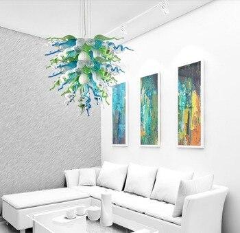 Woonkamer Decoratieve Geblazen Glaskunst LED Plafond Kroonluchter