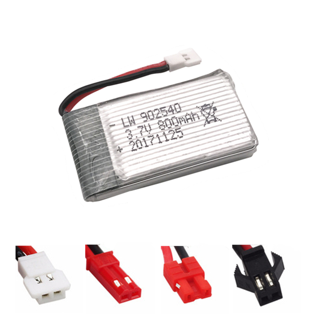 Lipo Battery 902540 3.7V 800mah For Syma X5SC X5HC X5HW X5UW MJX X400 X300C X800 RC Quadcopter Drone Spare Part 3.7 V 800 Mah
