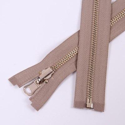 Alipress 5#90 см длинный открытый конец молния светильник золотые зубы металлические молнии для DIY шитья пуховик Куртка - Цвет: khaki