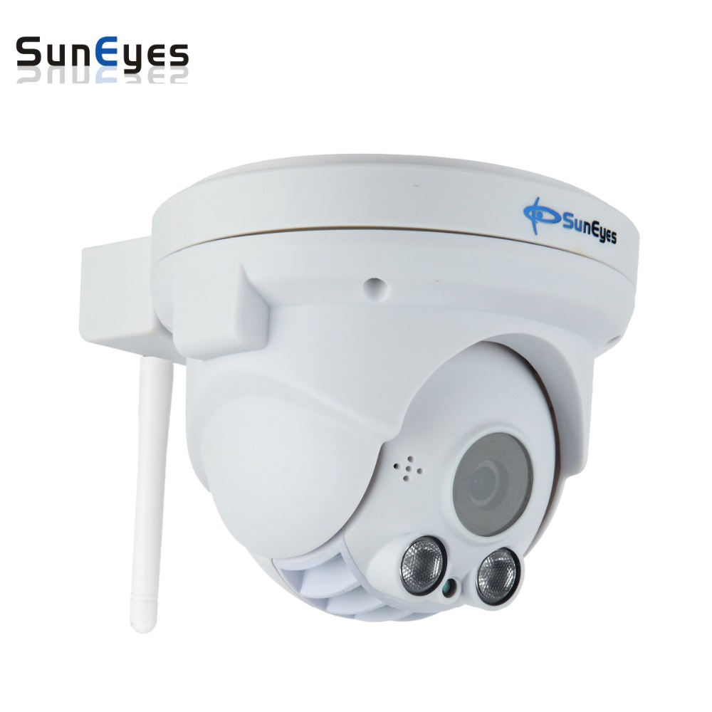 SunEyes  SP-P902WPT  ONVIF 960P HD Wireless Pan/Tilt Dome IP Camera with TF/Micro SD Card Slot Two Way Audio Array IR  Low Lux suneyes sp p702w┬а720p wireless┬аdome┬аeyeball hd ip┬аcamera┬аw tf onvif motion 2 led ir night vision