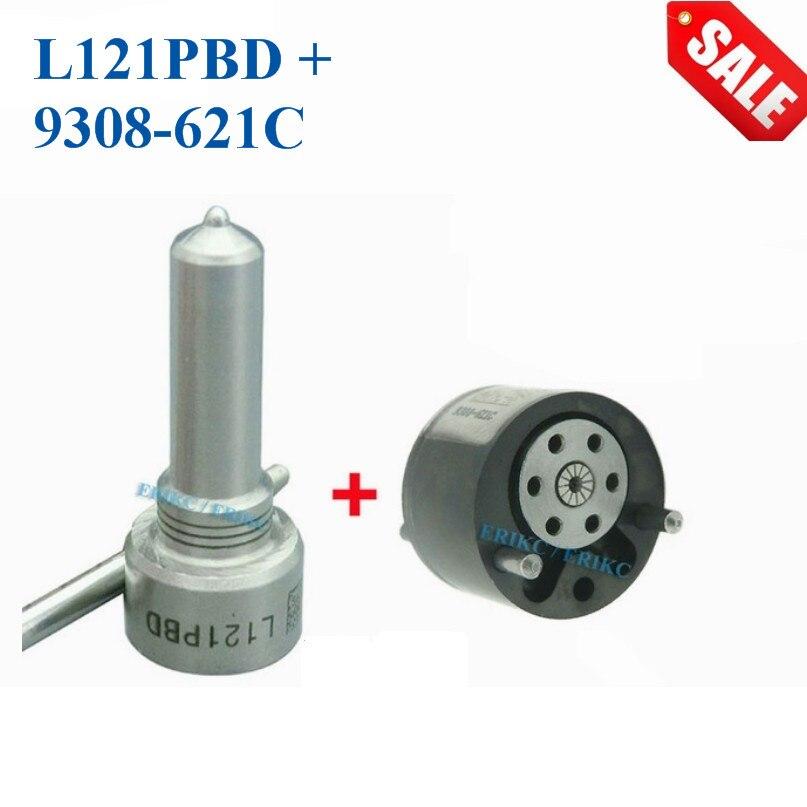ERIKC Réparation Buse L121PBD Soupape De Commande 9308-621C Injecteur de Carburant Kit De Réparation 7135-651 Jeu De Rechange EJBR02201Z EJBR01302Z EJBR01601Z