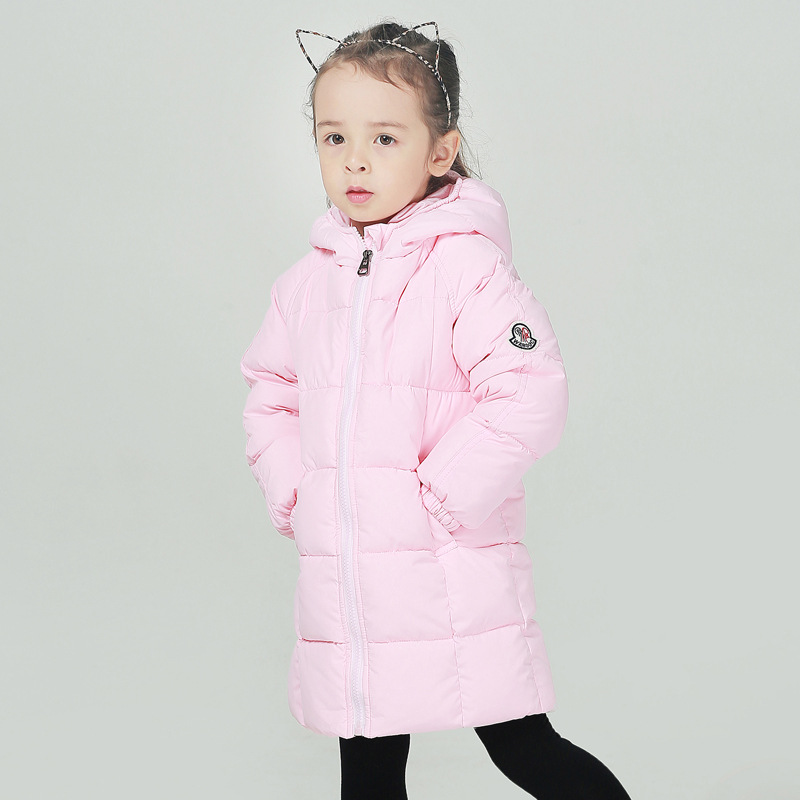 Winter Children's Clothing Kids Down Outerwear Girls Wadded Jacket Hooded Thick Child medium-long Thickening Cotton-padded Coat baby boys girls cotton padded clothes thick outerwear 2017 new winter kids hooded down parkas plaid casual jacket coat child top