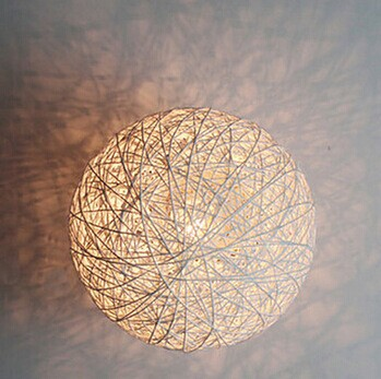 ФОТО Concise Style Modern Wall Light Lamp LED For Home Lighting,Wicker Wall Sconce Arandela Lamparas De Pared,E27,AC