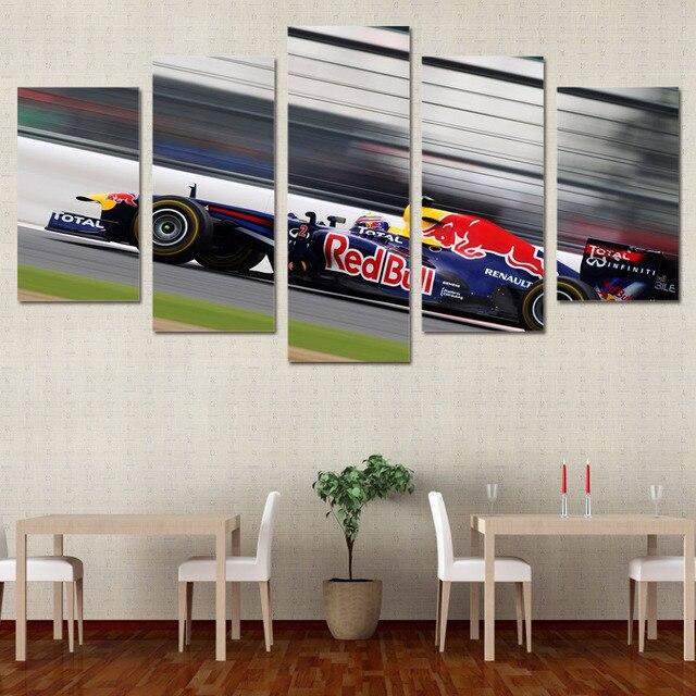 Wandkunst Leinwand Malerei 5 Panel Sport Auto Stil Wand Rahmen