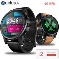 Zeblaze THOR 4 PRO 4G SmartWatch 1.6 inch Crystal Display GPS/GLONASS Smart Watch Quad Core 1GB+16GB 600mAh 5.0MP Leather Strap